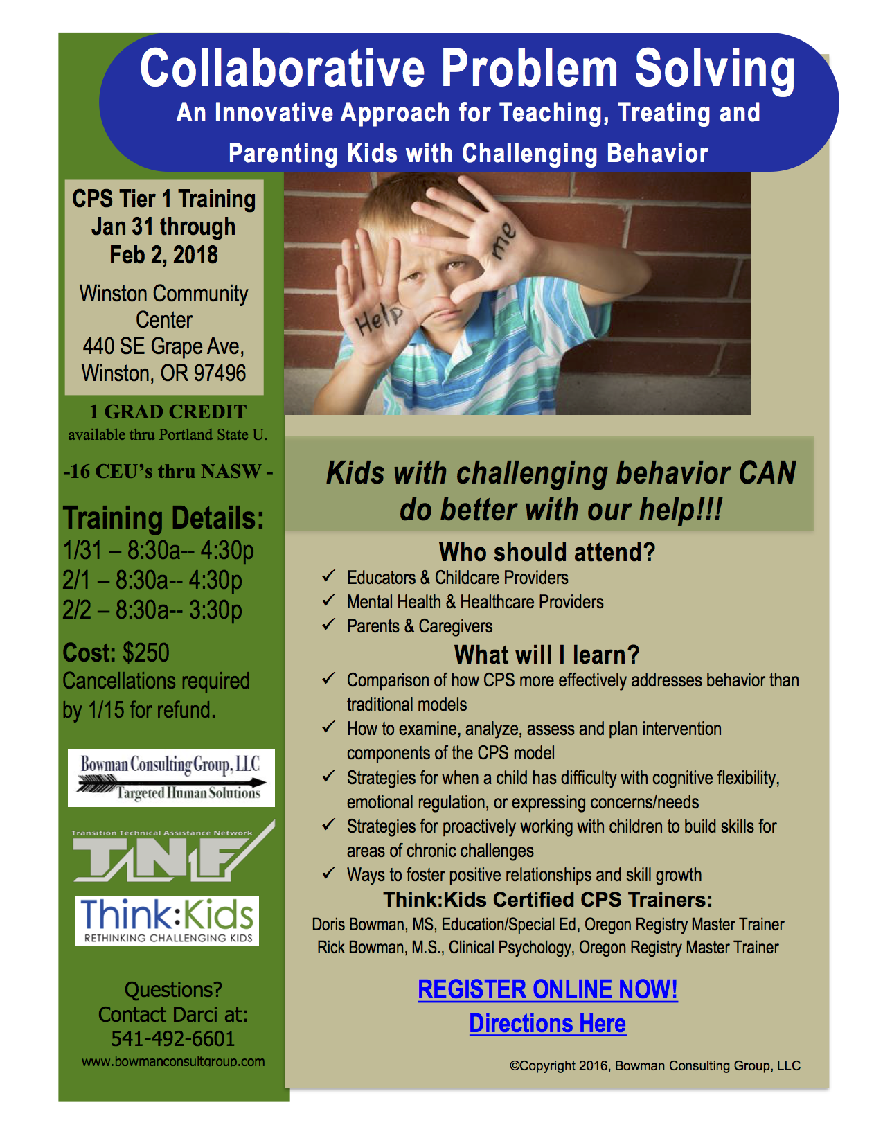 Collaborative Teaching Courses ~ Training opportunity in collaborative problem solving